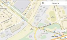 Схема прохода от метро Парк Победы к СЦ Конёк-Горбунок