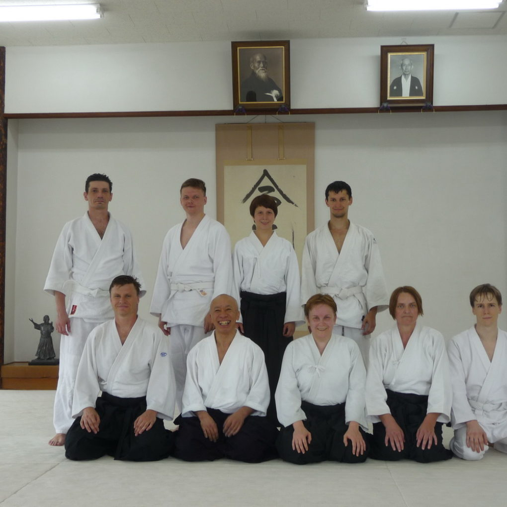 Делегация Койнобри Додзё с Осава сиханом, Токио, Япония, май 2013