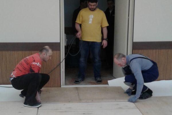 Монтаж нового зала Койнобори Додзё