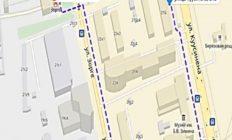 Схема прохода от метро «Зорге» (МЦК)