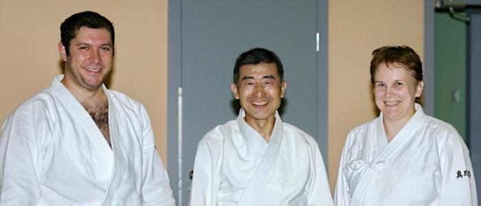 Поздравление с 30-летием от сихана Сёдзи Сэки (8 дан)